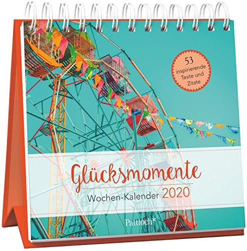 Glücksmomente - Wochen-Kalender 2020: zum Aufstellen m. Fotos u. Zitaten, inspirierende Texte auf d. Rückseiten, Spiralbindung, 16,6 x 15,8 cm (Motivations-kalender)