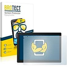 2x BROTECT HD-Clear Protector Pantalla BQ Aquaris E10 Película Protectora – Transparente, Anti-Huellas