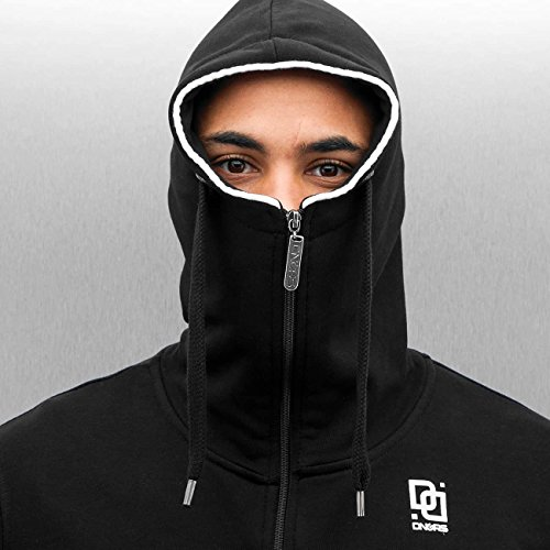 Dangerous DNGRS Uomo Maglieria / Hoodies con zip Subway Nero