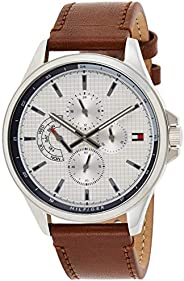 Tommy Hilfiger Mens Quartz Watch, Chronograph Display and Leather Strap 1791614
