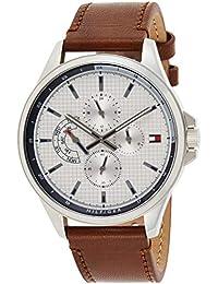 Tommy Hilfiger Reloj Multiesfera para Hombre de Cuarzo con Correa en Cuero 1791614