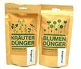 Kräuterdünger und Blumendünger Bio-Granulat, 2-er Set, von Romberg & Sohn, je 250 g.