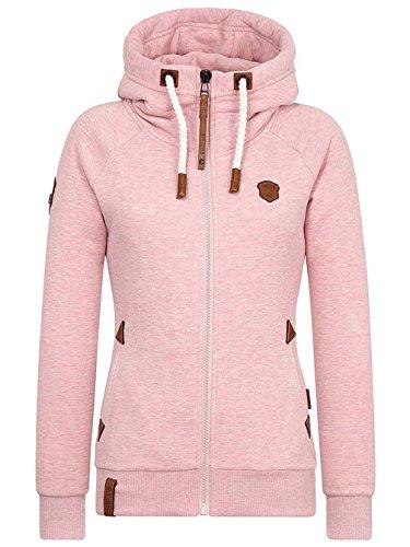 Naketano Damen Kapuzenjacke Blonder Engel Kapuzenjacke-L-schmutzmuschi pink melang
