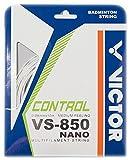 Victor Cordaje para bádminton VS-850 Nanotec white Set, blanco, 10 m
