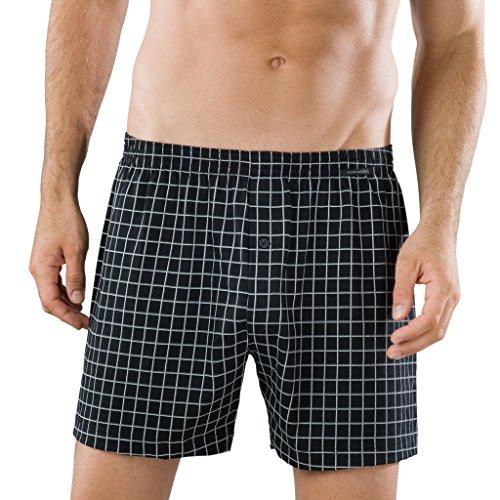 Schiesser Herren Unterhose Essentials Boxershorts 2 X Schwarz (Karriert)