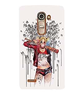 FUSON Baseball Girl Wearing Colorful 3D Hard Polycarbonate Designer Back Case Cover for LG G4 Mini :: LG G4c :: LG G4c H525N