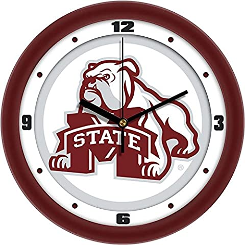 Mississippi State Bulldogs NCAA 12In Collegiate Wall Clock by SunTime