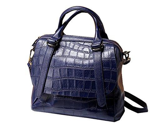 PACK Borse In Pelle Retro Fashion Wind Stone Pattern Spalla Borse Portable Messenger Women,A:Black D:SapphireBlue
