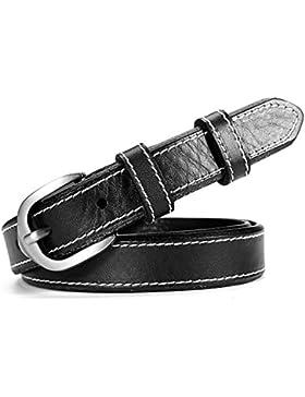 Joker Simple Cinturón/Cinturones De Hebilla Pasador Decorativo-Negro 95cm(37inch)