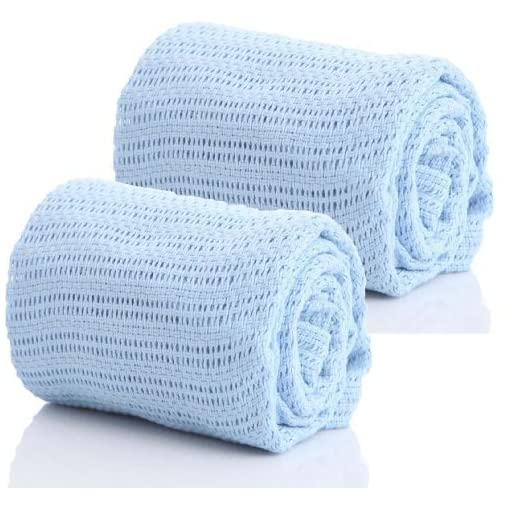 RSW-Pair-of-100-Pure-Cotton-Cellular-Baby-Blankets-for-Moses-Baskets-Cots-Pushchairs