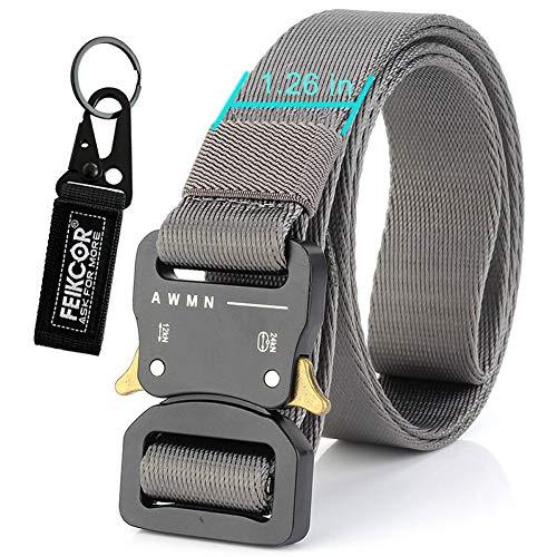 FEIKCOR Tactical Belt Heavy Duty Waist Belt Adjustable Military Style Nylon  Belts with Metal Buckle Molle a4d0fd87085
