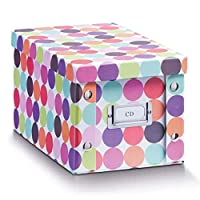 "Zeller ""Dots CD-Box, Wood, Multi-Colour, 16.5 x 28 x 15 cm"