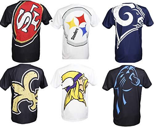 New Era Carolina Panthers T Shirt/Tee Big Logo Back Black - XL (Carolina Panthers Trikots Männer)