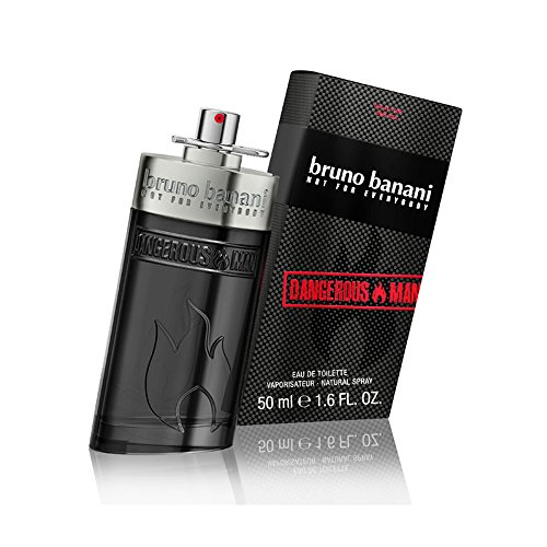 bruno banani Dangerous Man - Eau de Toilette Natural Spray - Unwiderstehlich-aufregendes Herren Parfüm - 1er Pack (1 x 50ml) (Liebt In Luft Der)