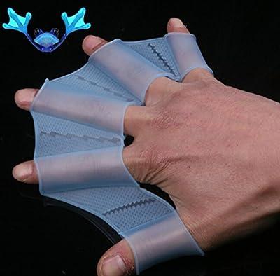 Ewin24 1 par de Niños para niños Guantes Piscina de silicona de Palm Swim Training palmeada mano de Palm Fin (Niño)