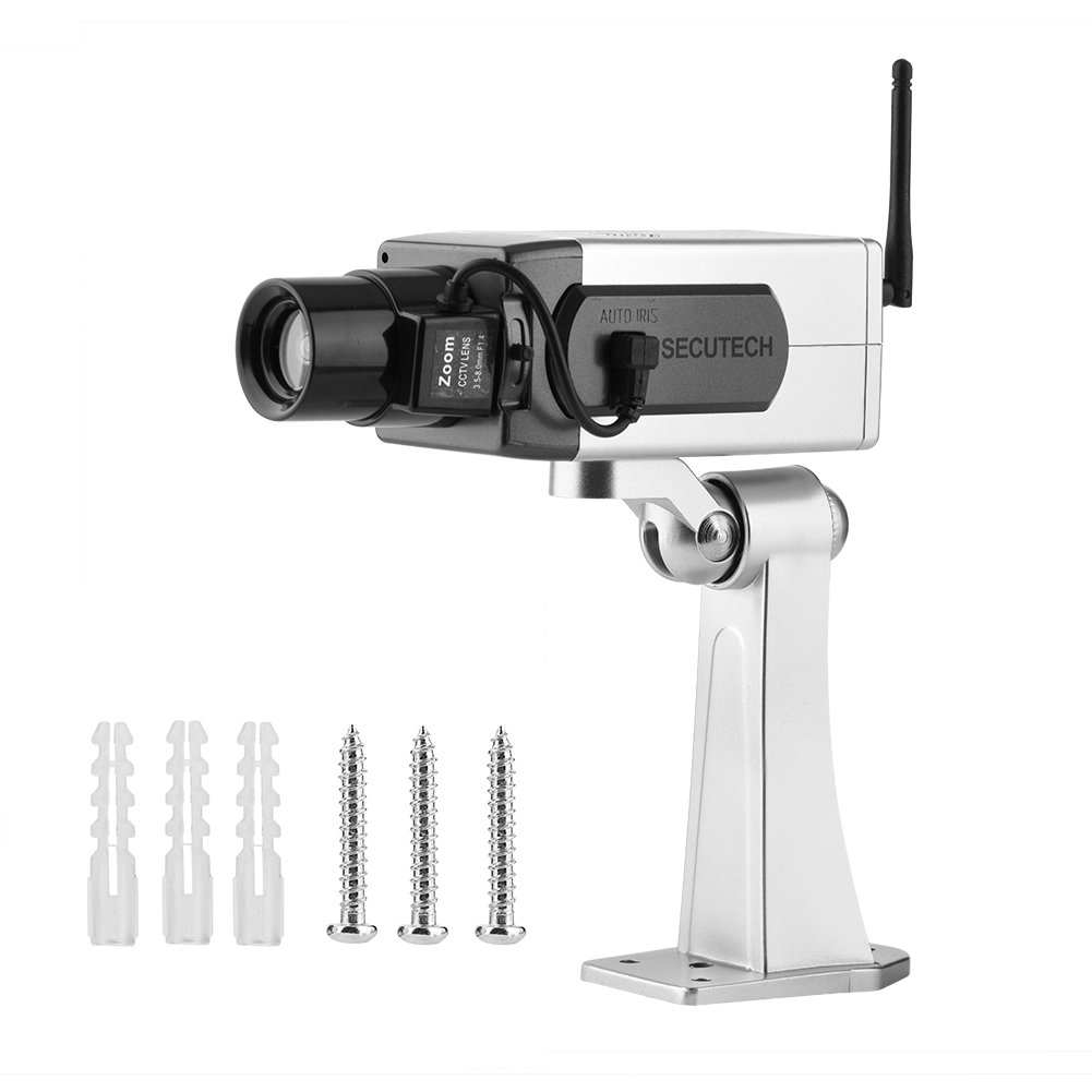 Bullet Dummy Camera, Fake Bullet CCTV Waterproof Auto Rotation Movement Security Camera Surveillance System With…