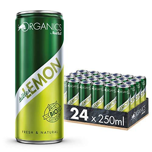 Organics by Red Bull Bitter Lemon 24 x 250 ml OHNE Pfand Dosen Bio Getränke, 24er Palette