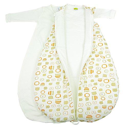 """Baby 2-in-1-Schlafsack-Set, """"Bärchengesichter"""", wattiert + warm gefüttert für kühlere Tage, 4-Jahreszeiten-Baumwolle Größe 74/80"""