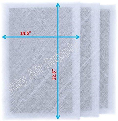 RAYAIR SUPPLY rayair 16x 25Dynamic Luft sauberer Ersatz Filter Pads 16X 25Refill (3Pack) Weiß -