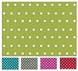 Wachstuch Tischdecke Abwaschbar Eckig 140 x 240 cm Meterware Punkte (Green)