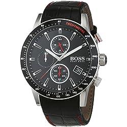 Hugo BOSS Reloj Cronógrafo para Hombre de Cuarzo con Correa en Cuero 1513390