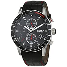HUGO BOSS Men's Chronograph Quartz Watch with Leather Strap – 1513390