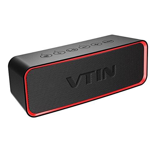 Foto de VTIN R2 - Altavoz Bluetooth Portátiles con Audio Clásico, Exclusive Bass + y Diseño de Botones Delicados, Altavoz Bluetooth Inalámbrico con Impermeable IPX6, a Prueba de Golpes, a Prueba de Arañazos.