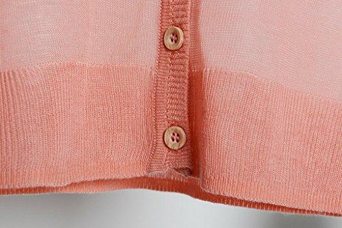 Bogood 3/4 Aermel One Size Loose Fit Damen Outwear Strickpullover Oberteil Gestrickt Shirt Pink