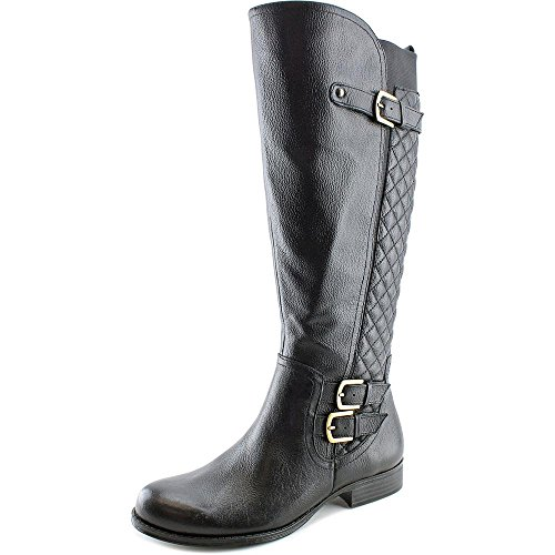 Naturalizer Jamon Wide Calf Femmes Large Cuir Botte Black
