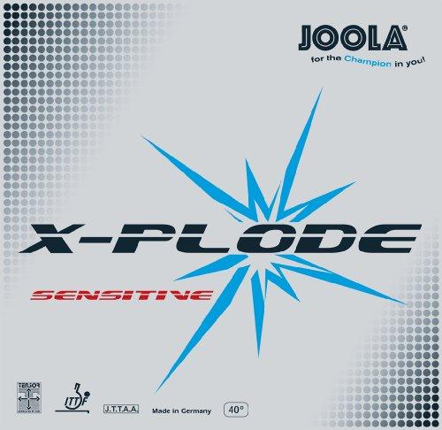 JOOLA Tischtennis Belag X empfindliche Tischtennis Gummi, 70068, Schwarz, Maximum