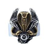 XBYN Acciaio Inossidabile Annata Punk Gotica Cobra Uomo Serpente dell'anello Motore del Motociclo Banda