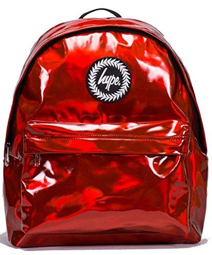 Hype Hombre Holográfica Logo Mochila, Rojo, One Size