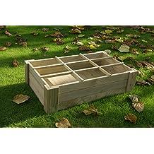Mesa de cultivo (Huerto urbano) sin patas, con suelo y separadores 60x100x27 cm