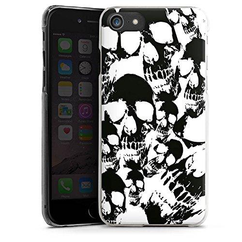 Apple iPhone X Silikon Hülle Case Schutzhülle Skull Schwarz-Weiß Gothic Hard Case transparent