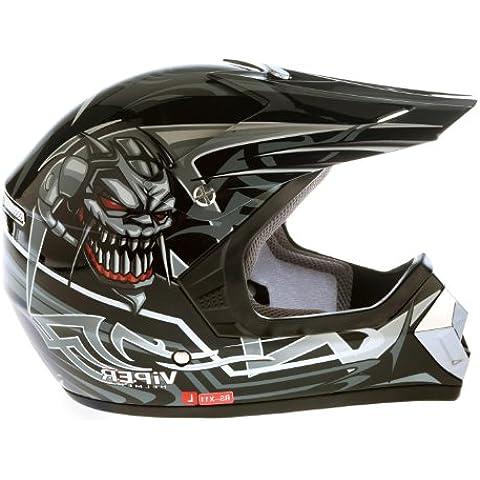 Viper RS-X11 niños cascos de motos Enduro Negro M