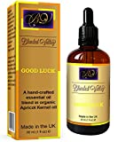Good Luck Oil - Frankincense, Cinnamon, Nutmeg and Bergamot Essential Oils in Apricot Kernel Oil. Aromatherapy Blend for Aroma Diffuser or Incense Burner. For Great Fortune, Wellbeing and Mood Lifting