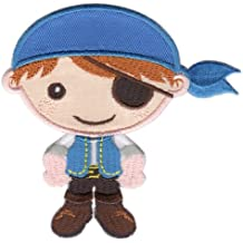 PatchMommy Parche Bordado Pirata Chico Parche Termoadhesivo - Parches y Apliques Infantiles