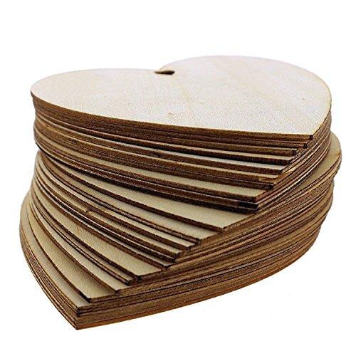 50 placche decorative di legno a forma di cuore da kurtzy for Placche decorative per interni