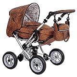 Zekiwa Kombipuppenwagen Zeki Limited Edition, hochmodischer Puppenwagen, mit Tragetasche und Fusssackfunktion, Anhängetasche inklusive, Dessin: Lederlook