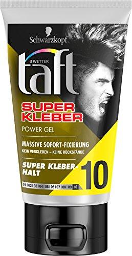 Schwarzkopf 3 Wetter Taft Super Kleber Power Gel Massiver Halt 10, 5er Pack (5 x 150 ml) (Gel 10% Gel)