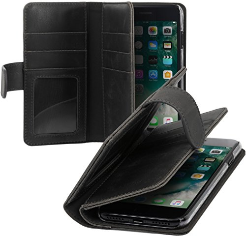 StilGut Talis XL Custodia protettiva per iPhone 8 e iPhone 7 con tasche per carte. Chiusura a libro Flip Case per loriginale Apple iPhone 8 e iPhone 7, nero iPhone 8 e iPhone 7 - Nero