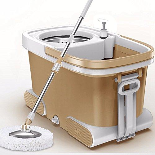 edelstahl - mop wischen haushalt hat freie hand reinigungswerkzeuge leicht zu reinigen, dehydratation mopp große abwaschbare schwenkbare putzeimer mit fahrer hand ohne druck oder gepolsterte home hotel,gold