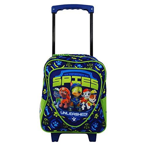 Imagen de paw patrol  trolley con dos ruedas bolso escolar guarderia niño azul