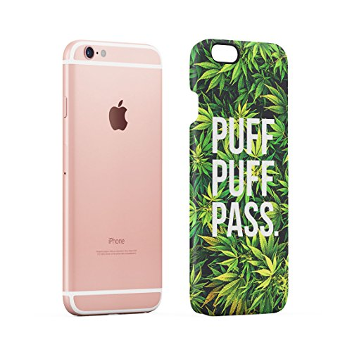 High Trippy Cannabis Leaves Pattern Dünne Rückschale aus Hartplastik für iPhone 6 & iPhone 6s Handy Hülle Schutzhülle Slim Fit Case cover Puff Pass