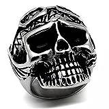 ISADY - Weston - Bague Homme - Chevalière - Acier - Tête de mort - Crâne - Taille 60