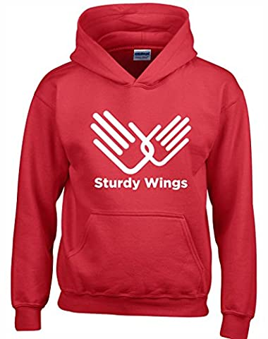'STURDY WINGS' Role Models Inspired Gift Unisex Hoodies For Men, Women & Teenagers (Red/Large)