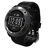 GPS Hiking Smart Watch,Reabeam,Adventurer Outdoor Sports Waterproof Watch,Multi-function Mode,for Tracking Running,Hiking,Heart Rate Monitor,SOS,Compass,Watch Connect with Smart Cellphone APP (gray)