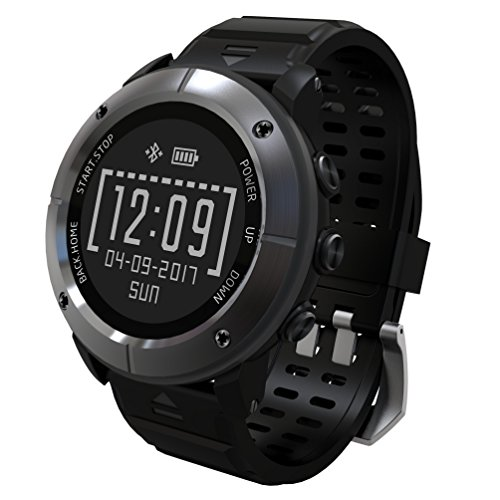 Montre GPS avec moniteur de fréquence cardiaque pour la course, la randonnée, Marathon, escalade, vélo, natation, saut à la corde, Golf, etc. Piscine Sport Smart Watch