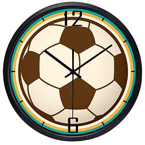 Fußballwanduhr quadratisch, dekorative