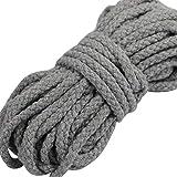 Gouert 5 m Baumwollkordel 7mm Baumwollseil Bunt Seil (LightGray)
